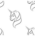 unicorn art line pattern seamless vector image vector image