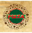 Vintage Pizza Poster vector image