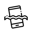 waterpromaterial phone thin line icon vector image