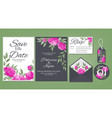 wedding floral template collection vector image vector image