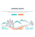 Wine Banner for Website Banner and Landing Page vector image vector image