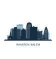 Winstonsalem skyline monochrome silhouette