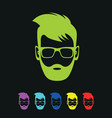 bright colored bearded men vector image