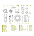 table setting place formal vector image