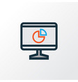computer analytics colorful outline symbol vector image