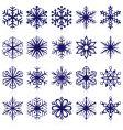 snowflake shapes vector image
