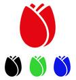 tulip bud icon vector image