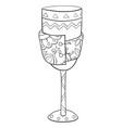 adult coloring bookpage a cute glass