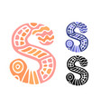 alphabet letter s kids education poster or vector image vector image