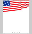 american flag decorative background poster frame vector image vector image