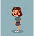 angry little girl having a tantrum vector image vector image