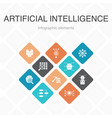 artificial intelligence infographic 10 option vector image vector image