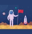 astronaut lunar surface cartoon icon