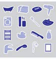 bathroom stickers set eps10 vector image