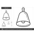 bell line icon vector image vector image