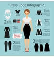 Business woman clothes infographics vector image vector image