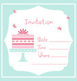 cake1-invitation vector image