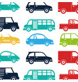 cars vehicles pattern isolated icon vector image vector image