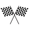 chequered flags finish flag vector image
