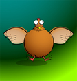chickensRround Chicken Flappin vector image vector image