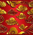 chinese cloud wave seamless wallpaper vector image vector image