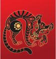 Chinese horoscope Year of the tiger vector image