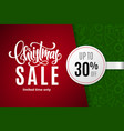christmas holiday sale 30 percent off vector image vector image