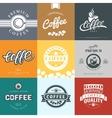 coffee vintage logo vector image