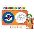 coloring book boy with a bat vector image