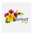 Concept identity for flower shop vector image vector image