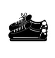 contour sneakers to practice exercise and train vector image vector image