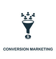 conversion marketing icon symbol creative sign vector image