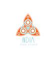 creative yoga floral paisley logo vector image