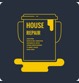 flat house repair poster vector image vector image