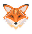 fox head logo decorative emblem vector image vector image
