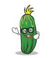 geek cucumber character cartoon collection vector image vector image