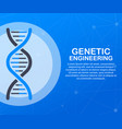 genetic engineering concept can use for web vector image
