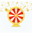 golden fortune wheel icon random choice wheel vector image