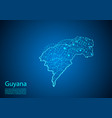 guyana map with nodes linked by lines concept of vector image vector image