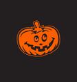 halloween pumpkin icon logo esign element vector image vector image