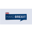 Hard Brexit banner template isolated vector image vector image