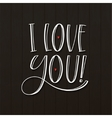 I Love you greeting Card vector image vector image