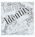 identity theft victims Word Cloud Concept vector image vector image
