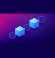 isometric blockchain network architecture concept vector image