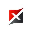 letter x square logo design concept template vector image