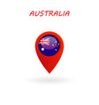 location icon for australia flag eps file vector image