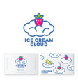 logo ice cream cloud vector image vector image