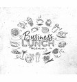 monogram business lunch vector image vector image