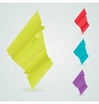 origami paper banners for design eps 10 vector image