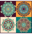 ornament ornamental round lace collection vector image vector image
